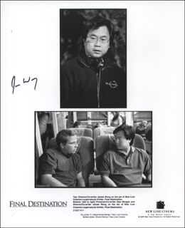 JAMES WONG - AUTOGRAPHED SIGNED PHOTOGRAPH