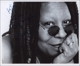 WHOOPI GOLDBERG - AUTOGRAPHED INSCRIBED PHOTOGRAPH