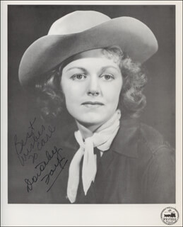 DOROTHY FAY - AUTOGRAPHED INSCRIBED PHOTOGRAPH