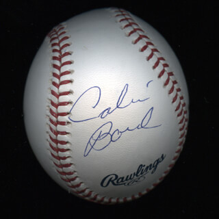 Autographs: CALVIN BOREL - BASEBALL SIGNED