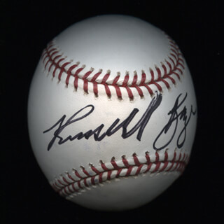 Autographs: RUSSELL BAZE - BASEBALL SIGNED