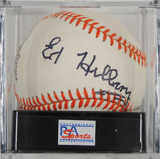 SIR EDMUND P. HILLARY - AUTOGRAPHED SIGNED BASEBALL