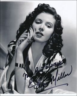 ANN MILLER - AUTOGRAPHED SIGNED PHOTOGRAPH