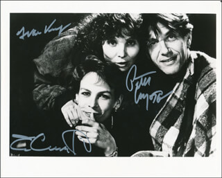 A MAN IN LOVE MOVIE CAST - AUTOGRAPHED SIGNED PHOTOGRAPH CO-SIGNED BY: JAMIE LEE CURTIS, PETER COYOTE, DIANE KURYS