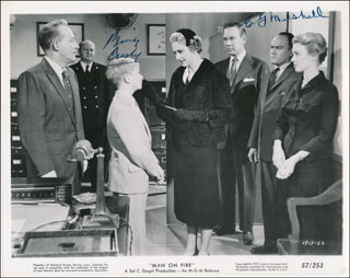 MAN ON FIRE MOVIE CAST - PRINTED PHOTOGRAPH SIGNED IN INK CO-SIGNED BY: E.G. MARSHALL, BING CROSBY