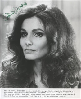 PAULA PRENTISS - PRINTED PHOTOGRAPH SIGNED IN INK