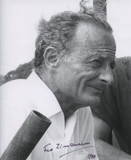 FRED ZINNEMANN - AUTOGRAPHED SIGNED PHOTOGRAPH 1988