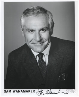 SAM WANAMAKER - PRINTED PHOTOGRAPH SIGNED IN INK