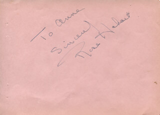 ROSE HOBART - AUTOGRAPH NOTE SIGNED
