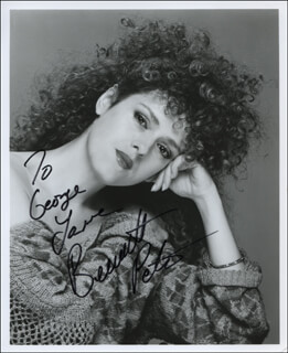 BERNADETTE PETERS - AUTOGRAPHED INSCRIBED PHOTOGRAPH