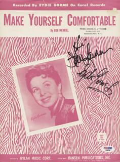 EYDIE GORME - SHEET MUSIC SIGNED CO-SIGNED BY: STEVE LAWRENCE