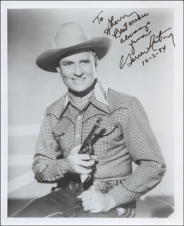 GENE AUTRY - AUTOGRAPHED INSCRIBED PHOTOGRAPH 10/02/1984