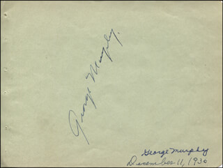 GEORGE MURPHY - AUTOGRAPH CIRCA 1936 CO-SIGNED BY: PINKY (TRUMAN) TOMLIN