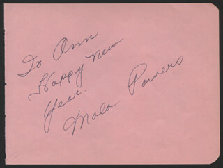 MALA POWERS - AUTOGRAPH NOTE SIGNED