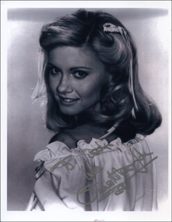 OLIVIA NEWTON-JOHN - AUTOGRAPHED INSCRIBED PHOTOGRAPH