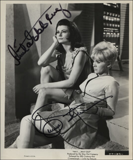 WAY ... WAY OUT MOVIE CAST - AUTOGRAPHED SIGNED PHOTOGRAPH CO-SIGNED BY: ANITA EKBERG, CONNIE STEVENS