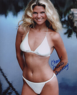 CHRISTIE BRINKLEY - AUTOGRAPHED SIGNED PHOTOGRAPH