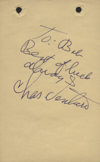 CHARLIE VENTURA - AUTOGRAPH NOTE SIGNED