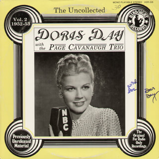 DORIS DAY - RECORD ALBUM COVER SIGNED