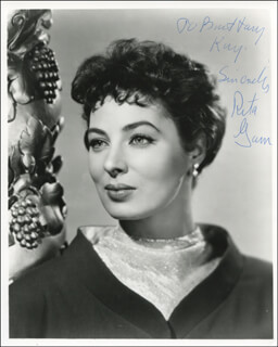 RITA GAM - AUTOGRAPHED INSCRIBED PHOTOGRAPH