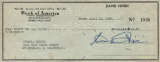 DAVID NIVEN - AUTOGRAPHED SIGNED CHECK 04/13/1948