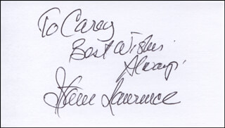STEVE LAWRENCE - AUTOGRAPH NOTE SIGNED