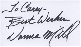 DONNA MILLS - AUTOGRAPH NOTE SIGNED