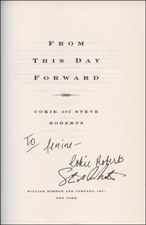 COKIE ROBERTS - INSCRIBED BOOK SIGNED CO-SIGNED BY: STEVEN V. ROBERTS