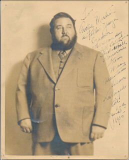 MAN MOUNTAIN DEAN - AUTOGRAPHED INSCRIBED PHOTOGRAPH 01/25/1935
