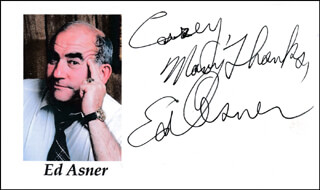 ED ASNER - AUTOGRAPH NOTE SIGNED