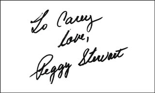 PEGGY STEWART - AUTOGRAPH NOTE SIGNED