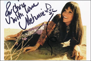 MELANIE - AUTOGRAPHED INSCRIBED PHOTOGRAPH