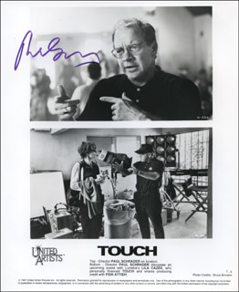 PAUL SCHRADER - AUTOGRAPHED SIGNED PHOTOGRAPH