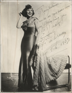 FIFI D'ORSAY - AUTOGRAPHED INSCRIBED PHOTOGRAPH 11/09/1937