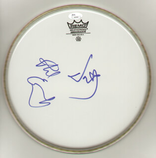 THE EVERLY BROTHERS - DRUMHEAD SIGNED CO-SIGNED BY: EVERLY BROTHERS (DON EVERLY), EVERLY BROTHERS (PHIL EVERLY)