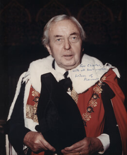 PRIME MINISTER HAROLD WILSON (GREAT BRITAIN) - AUTOGRAPHED INSCRIBED PHOTOGRAPH