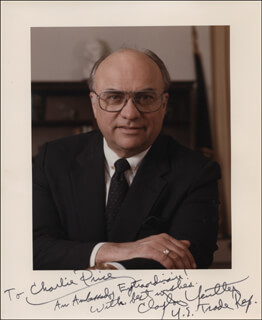Autographs: CLAYTON YEUTTER - INSCRIBED PHOTOGRAPH SIGNED