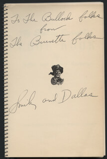 SMILEY (LESTER) BURNETTE - INSCRIBED BOOK SIGNED