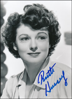 RUTH HUSSEY - AUTOGRAPHED SIGNED PHOTOGRAPH