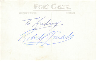 ROBERT GOULET - INSCRIBED PICTURE POSTCARD SIGNED