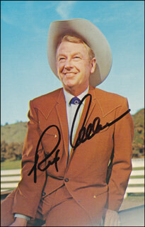 REX ALLEN - PICTURE POST CARD SIGNED