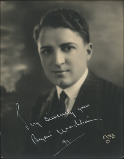 BYRANT WASHBURN - AUTOGRAPHED SIGNED PHOTOGRAPH 1919