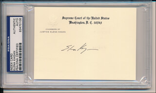 Autographs: ASSOCIATE JUSTICE ELENA KAGAN - SUPREME COURT CARD SIGNED