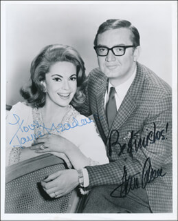 THE STEVE ALLEN COMEDY HOUR TV CAST - AUTOGRAPHED SIGNED PHOTOGRAPH CO-SIGNED BY: STEVE ALLEN, JAYNE MEADOWS