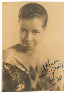 ETHEL WATERS - AUTOGRAPHED INSCRIBED PHOTOGRAPH