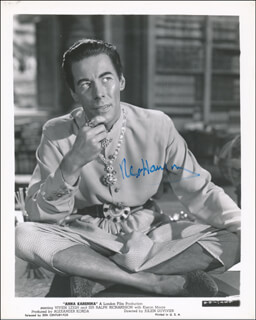 REX HARRISON - PRINTED PHOTOGRAPH SIGNED IN INK