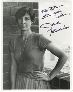 Autographs: JANE ALEXANDER - INSCRIBED PHOTOGRAPH SIGNED