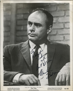 MARTIN BALSAM - INSCRIBED PRINTED PHOTOGRAPH SIGNED IN INK