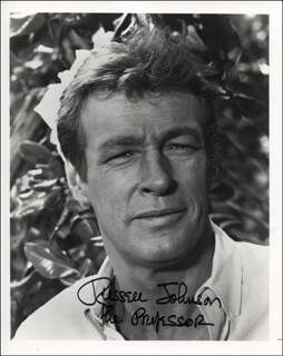 RUSSELL JOHNSON - AUTOGRAPHED SIGNED PHOTOGRAPH