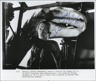 DAVID CARRADINE - PRINTED PHOTOGRAPH SIGNED IN INK